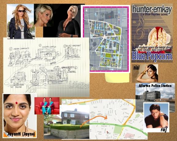 Novel Corkboard (graphic desktop wallpaper and for Second Life)