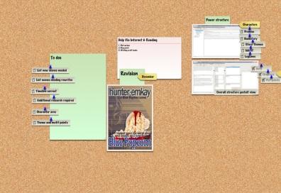 Corkulous app - Revisualising my Novel corkboard