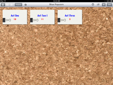 Index Card App for iPAD - Card stacks