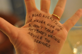 Lev Grossman's hand advice via Shared Worlds