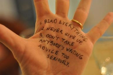 Lev Grossman's hand advice via Shared Worlds