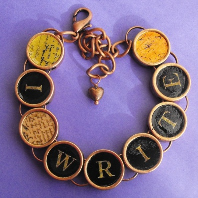 I Write Bracelet - http://www.etsy.com/listing/90673869/i-write-writers-bracelet-author-writing?ref=sr_gallery_2&ga_search_query=author&ga_view_type=gallery&ga_ship_to=US&ga_search_type=all