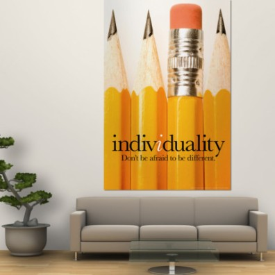 Individuality Wall Poster - http://www.allposters.com/-sp/Individuality-Posters_i3588455_.htm?aid=422470787&LinkTypeID=2&PosterTypeID=1&DestType=7