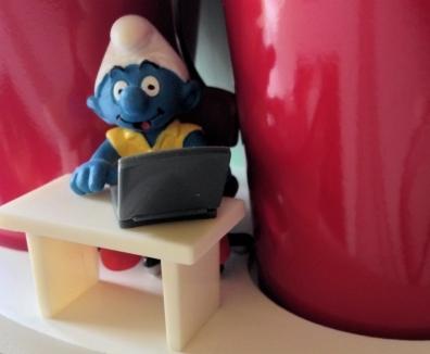 My own mascot - Schleich Smurf With Laptop Super Smurf Figure