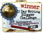 10 Day Write Blog Challenge WINNER button150