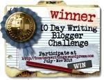 10 Day Write Blog Challenge WINNER button150