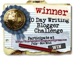 10 Day Write Blog Challenge WINNER button300