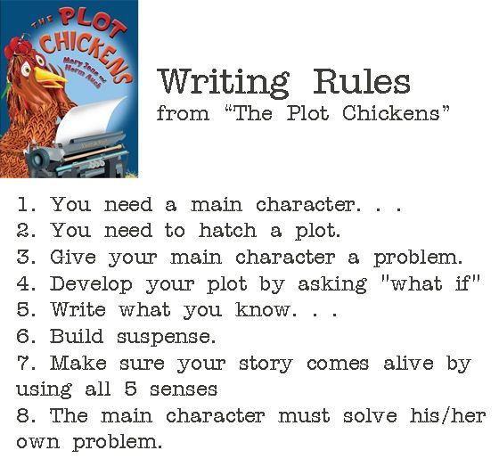 rules for writing a book These are rules i've picked up along the way to help me remain invisible when i'm writing a book, to help me show rather than tell what's taking place in.