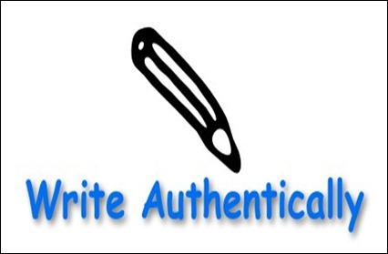 write authentically