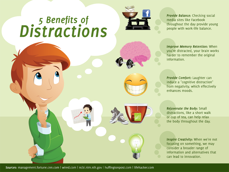 benefits of distraction
