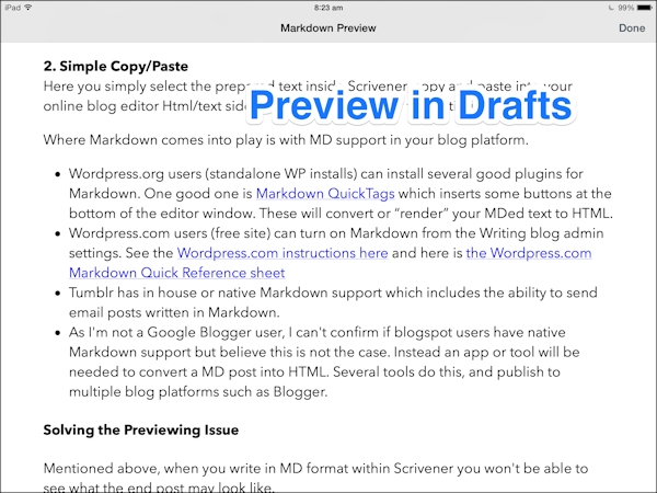 Drafts screenshot 2