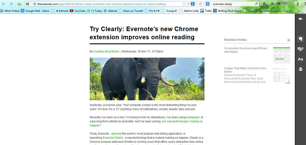 A-Z #E4W| Evernote Web Clippings – Word Hunter