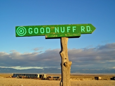 good 'nuff road - sign