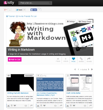 Listly Markdown List