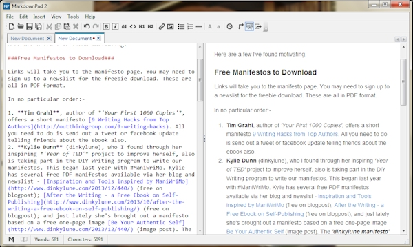 Markdown Pad screenshot