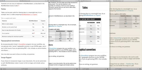 Marked is a preview app which works with many MarkDown editors