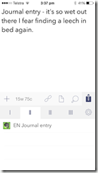 Drafts to Evernote append