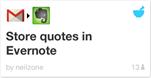 ifttt store quotes in evernote