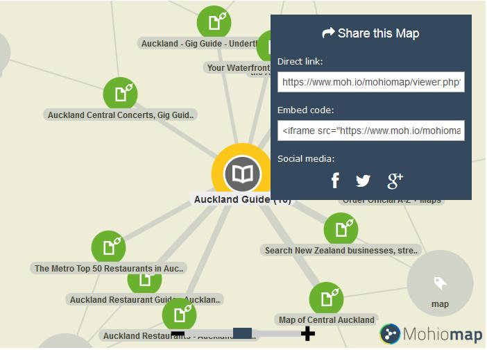 Mohiomap Auckland Minimap example