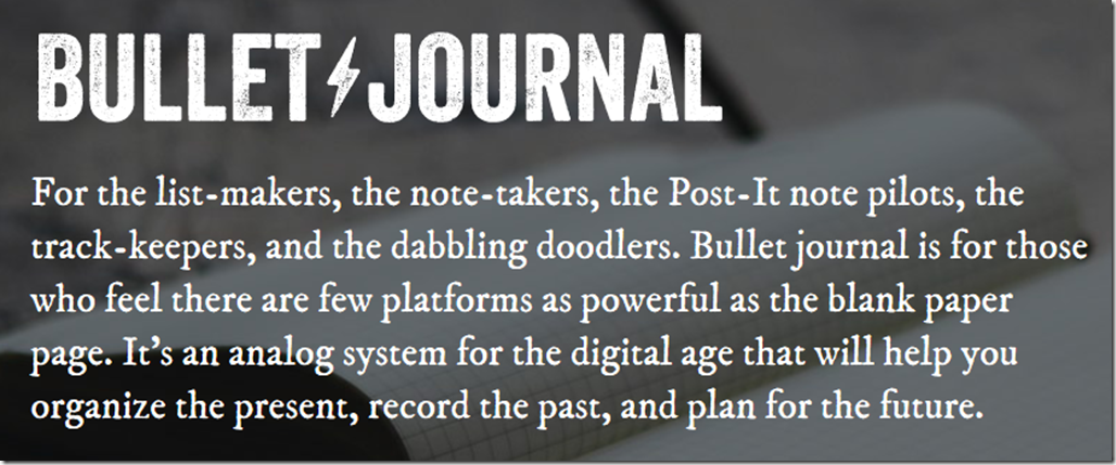 BulletJournal system