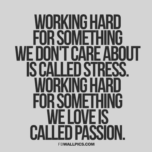 Finding passion and motivation