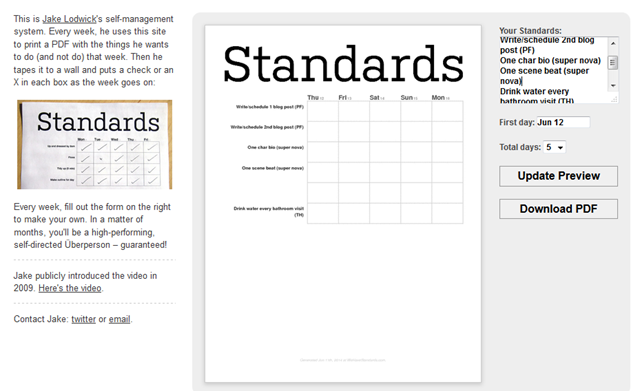 Standards website