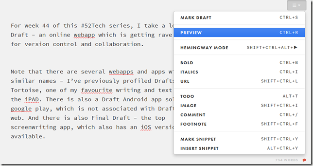 Draft options