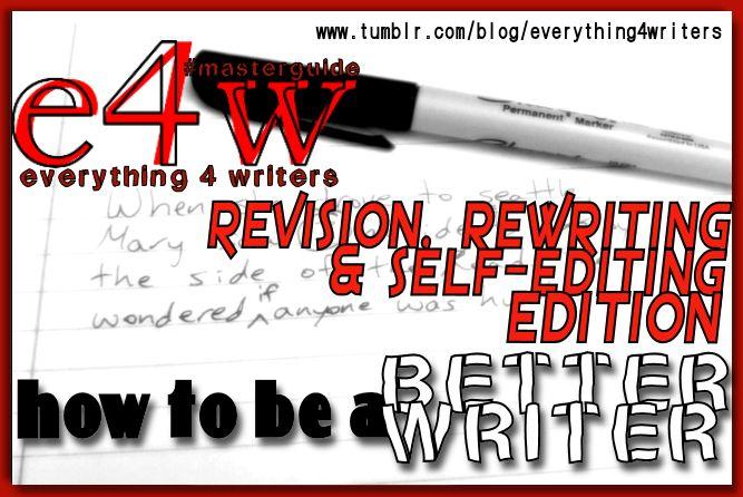 E4W Masterlist BetterWriter RevisionEditing