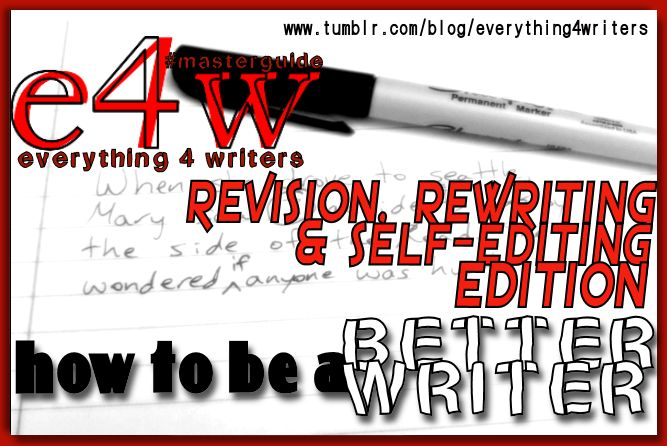 Writing Resources – Revision and Self-Editing